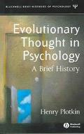 Evolutionary Thought in Psychology A Brief History
