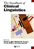 Handbook of Clinical Linguistics