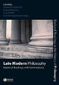 Late Modern Philosophy Essential Readings With Commentary
