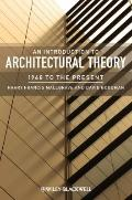 Introduction to Architectural Theory : 1968 to the Present