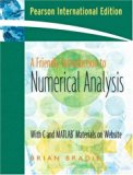 A Friendly Introduction to Numerical Analysis: WITH Maple 10 VP
