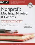 Nonprofit Meetings, Minutes & Records with CDROM