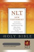 Holy Bible New Living Translation, New Testament, Charcoal Leather Like, Tiny Size