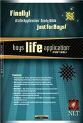 Boys Life Application Study Bible New Living Translation, Onyx, Leatherlike