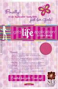 Girls Life Application Study Bible New Living Translation, Hot Pink, Leatherlike,