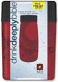 Drink Deeply Bible New Living Translation, Red Plastic Case