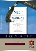 Holy Bible New Living Translation, Burgundy, Bonded Leather, Slimline Reference, Graduate Ed...