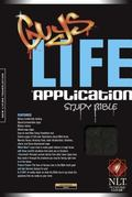 Guys Life Application Study Bible New Living Translation, Onyx, Leatherlike