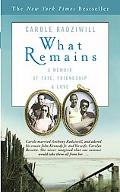 What Remains A Memoir Of Fate, Friendship & Love
