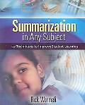 Summarization in Any Subject 50 Techniques to Improve Student Learning