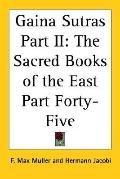 Gaina Sutras The Sacred Books of the East Part Forty-five