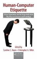 Human-Computer Etiquette (Supply Chain Integration Modeling, Optimization and Application)