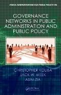 Governance Networks : Serving the Public Interest Across Sectors
