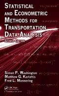 Statistical and Economic Methods for Transportation Data Analysis
