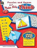 Puzzles and Games that Make Kids Think: Grade 1