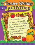 Cursive Writing Activities, Grades 3-4