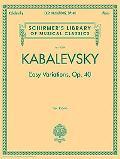 Easy Variations, Op. 40
