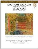 Diction Coach Arias for Bass G Schirmer Opera Anthology Bk/ 2Cds (Diction Coach - G. Schirme...