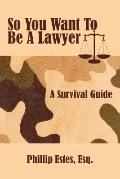So You Want to Be a Lawyer A Survival Guide