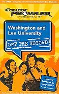 College Prowler Washington and Lee University Off the Record Lexington, Virginia