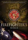 HCSB Firefighter's Bible, Simulated Leather (Red)