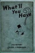 What'll You Have? 1933 Reprint