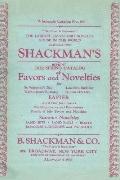Shackman's Reprint 1932 Spring Catalog Of Favors And Novelties