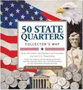 50 State Commemorative Quarters Collector's Map (Coin Collecting, Numismatics) : Including t...