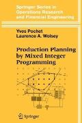 Production Planning by Mixed Integer Programming