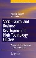 Social Capital and Business Development in High-Technology Clusters: An Analysis of Contempo...