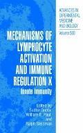 Mechanisms of Lymphocyte Activation and Immune Regulation X : Innate Immunity