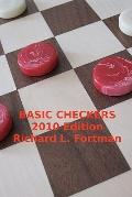Basic Checkers: The First Twenty Moves