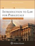 Introduction to Law for Paralegals : Critical Thinking Approach 6E