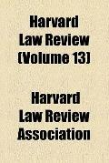 Harvard Law Review (v. 13)