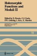 Holomorphic Functions and Moduli II : Proceedings of a Workshop Held March 13–19 1986