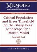 Critical Population and Error Threshold on the Sharp Peak Landscape for a Moran Model