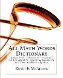 All Math Words Dictionary: Large Print - Extended Market Edition