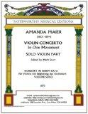 Violin Concerto in One Movement; Solo Violin Part: Edited by Mark Starr