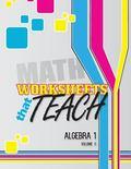 Worksheets That Teach: Algebra 1, Volume II (Volume 2)