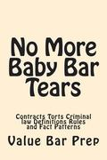 No More Baby Bar Tears: Contracts Torts Criminal law Definitions Rules and Fact Patterns