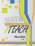 Worksheets That Teach: Prealgebra, Volume I (Volume 1)