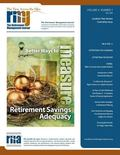The Retirement Management Journal: Vol. 4, No. 2, Academic Peer Review Committee Issue (Volu...
