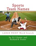 Sports Team Names: Large Print Word Search