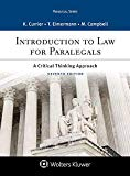 Introduction to Law for Paralegals: A Critical Thinking Approach (Aspen Paralegal)
