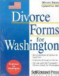 Divorce Forms for Washington Updated Oct. 2001
