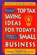 Top Tax Saving Ideas for Today's Small Business