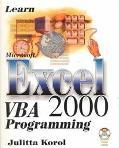 Learn Ms.excel 2000 Vba Prog.-w/cd