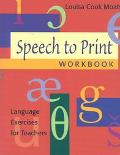 Speech to Print Language Excerises for Teachers