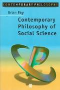 Contemporary Philosophy of Social Science A Multicultural Approach