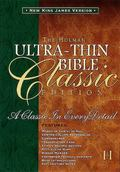 Holman Ultrathin Bible Classic Edition  New King James Version  Black Bonded Leather